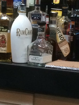 Terrible picture but found the humor in the bartender leaving the bottle on the bottom shelf because we were ordering frequently